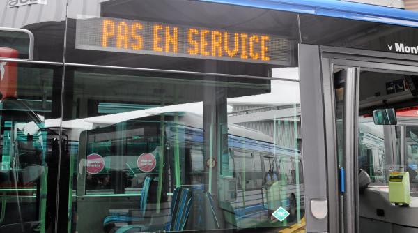 Un bus de la TaM, en janvier 2011, à Montpellier (Hérault).