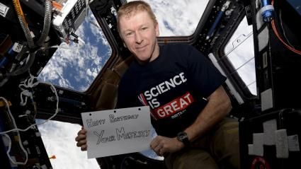 L\'astronaute Tim Peake à bord de la Station spatiale internationale, le 21 avril 2016.