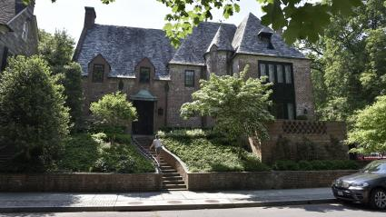 La maison du couple Obama dans le quartier très résidentiel de Kalorama à Washington.