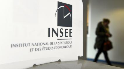 Logo de l\'Insee, à Nancy (Meurthe-et-Moselle), en 2017 (photo d\'illustration)