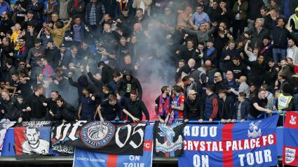 Les supporters du Crystal Palace lors d\'un match contre Chelsea, à Londres, le 1er avril 2017.