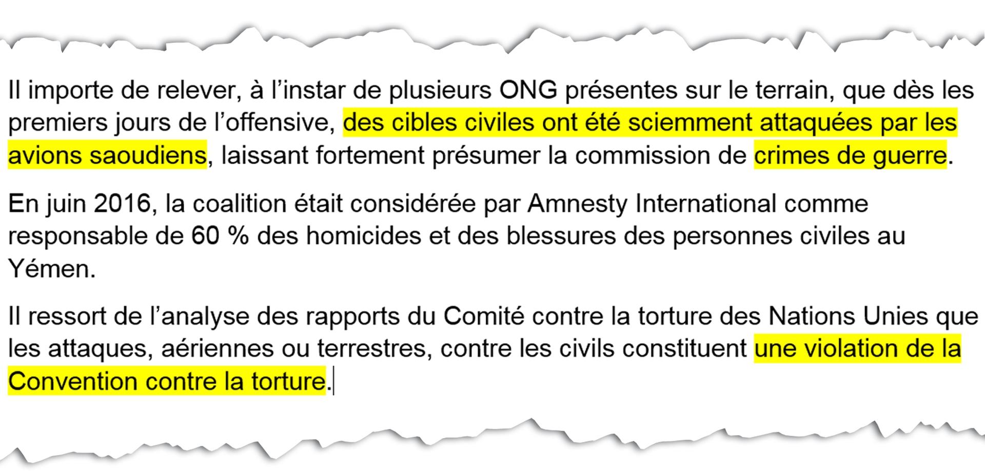 Extrait de la plainte déposée, lundi 9 avril, à Paris, contre le prince héritier d\'Arabie saoudite.