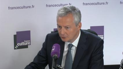 Bruno Le Maire, ministre de l\'Économie, invité de la matinale de France Culture, le 9 mai 2018.