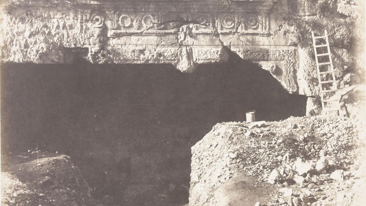 """Le \""""Tombeau des rois\"""", à Jerusalem, entre 1863 et 1866."""