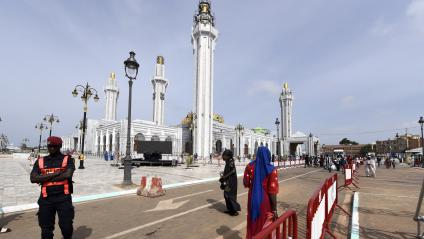 La grande mosquée de Dakar,inaugurée le 27 septembre 2019, a été financée par la puissante confrérie religieuse mouride.