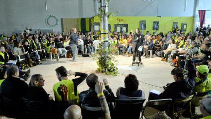 """Des \""""gilets jaunes\"""" réunis à Montpellier (Hérault) lors de leur \""""Assemblée des assemblées\"""", le 1er novembre 2019."""