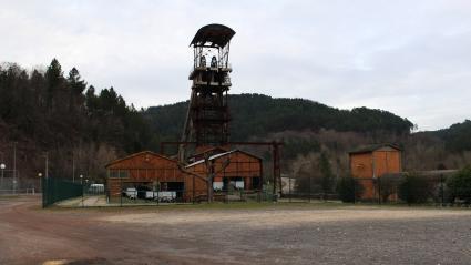 Le chevalement du puits Ricard, un ancien charbonnage, à La Grand-Combe (Gard), le 21 janvier 2020.