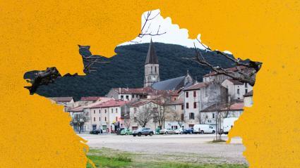La ville de La Grand-Combe (Gard), en janvier 2020.