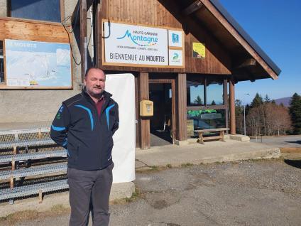 Hervé Pouneau, le directeur du syndicat mixteHaute-Garonne Montagne sur la station du Mourtis.