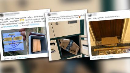 Des plaintes d\'usagers de La Poste sur les réseaux sociaux (copie d\'écran Twitter).