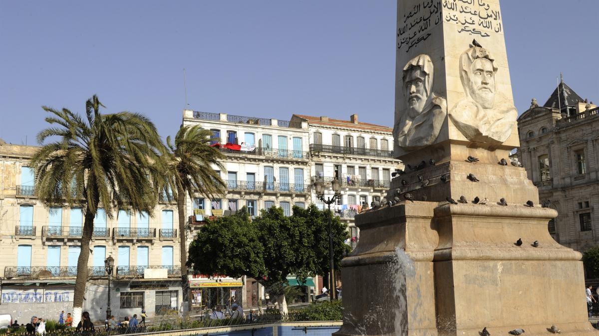 Monument de l\'émir Abdelkader, à Oran, le 6 mars 2010.
