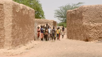 Un village dans la région de Tillabéri, où a eu lieu l\'attaque.